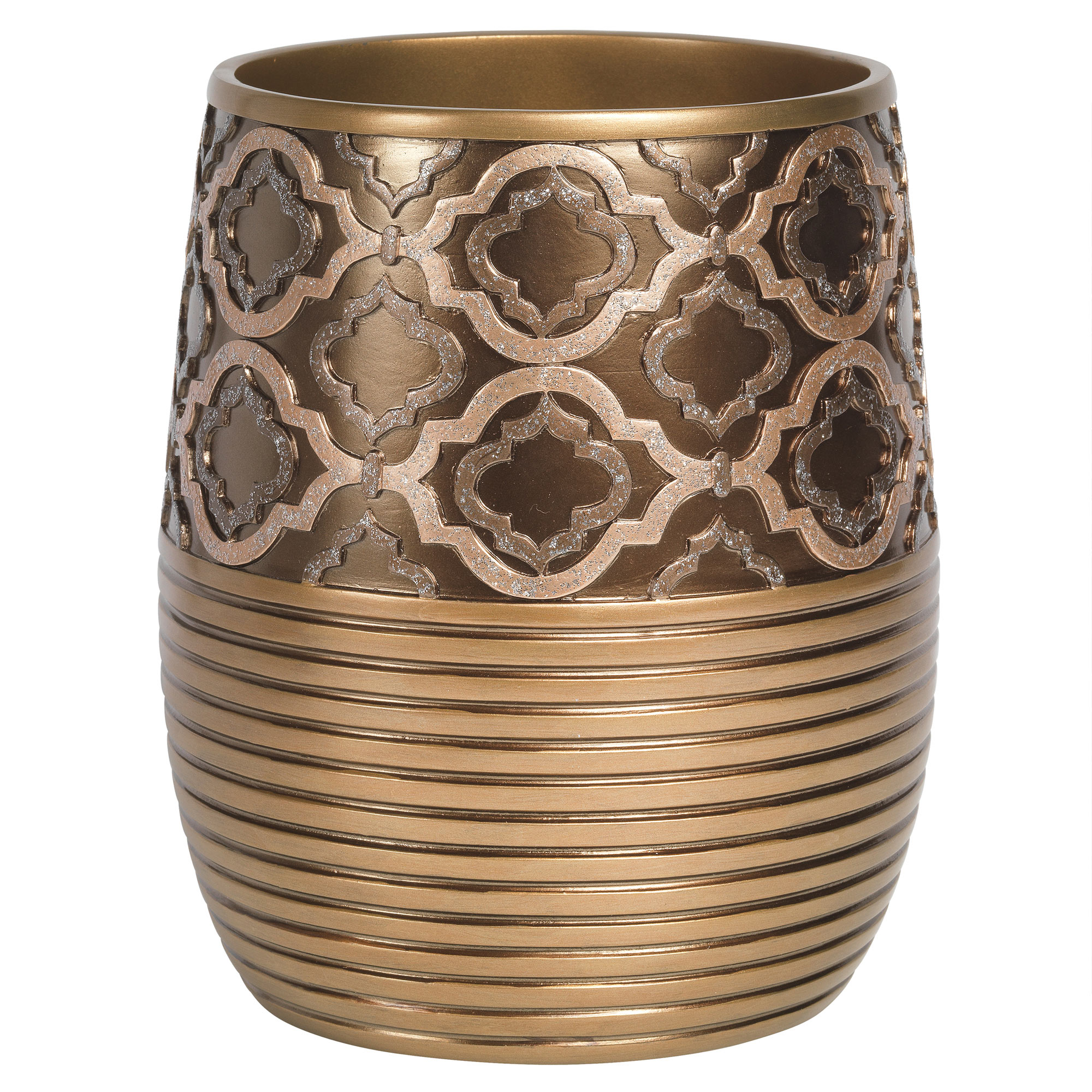 Beige//Gold Popular Bath Seraphina Bathroom Waste Basket