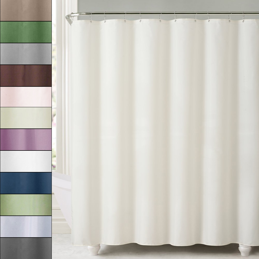 """Premium Fabric Shower Curtain//Liner 70/""""x72/"""" Dobby Pinstripes Polyester"""