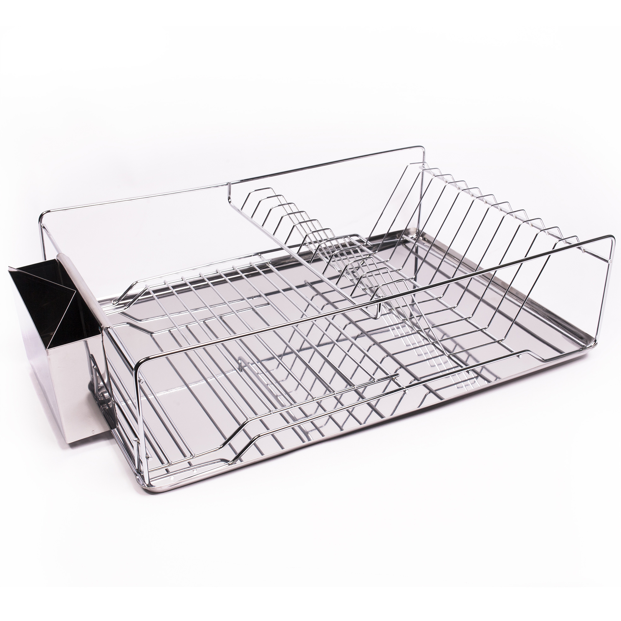 Genial Details About Home Basics 3 Piece Stainless Steel U0026 Chrome Kitchen Sink  Dish Drainer Set